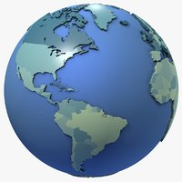 Geopolitical Earth Globe Map