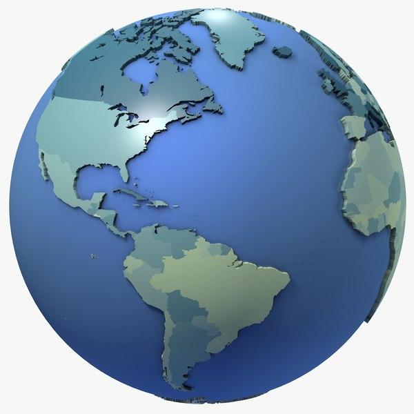 geopolitical earth 3D model