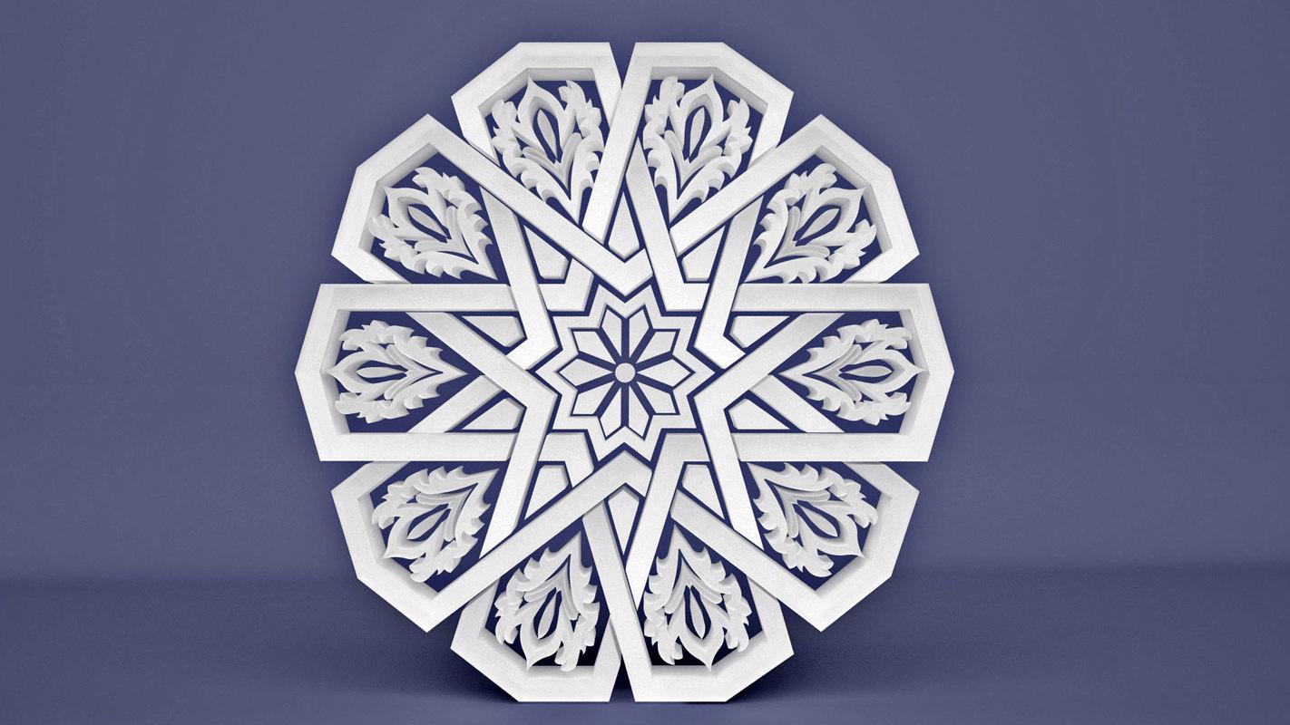 3D islamic pattern model