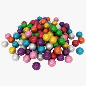 3D bubble gum pile