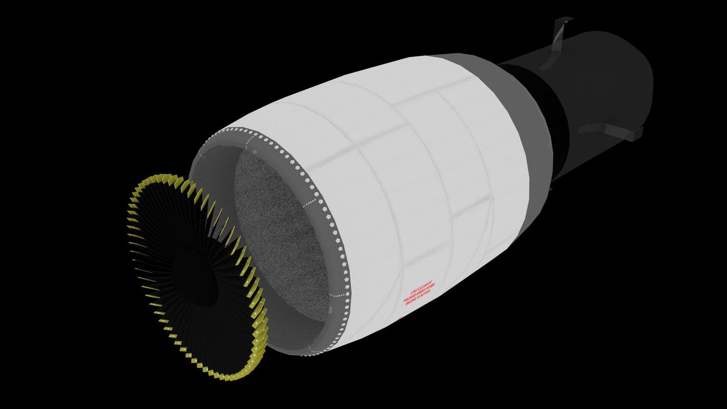 3D plane jet engine