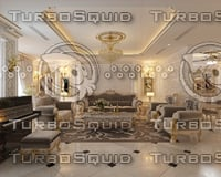 3D apartment luxury interior model
