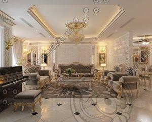 3D apartment luxury interior model