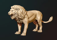 Lion Sculpture (3D print READY)