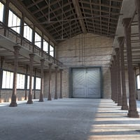Old Warehouse with Pillars