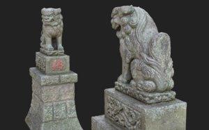 3D komainu 5 guardian lions