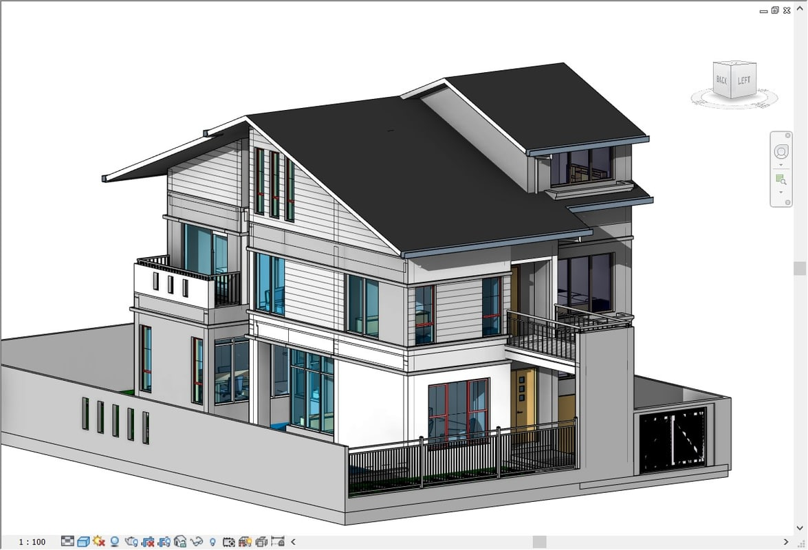 Lovely House Drawing 3d Part - 14: House Drawings 3D Model