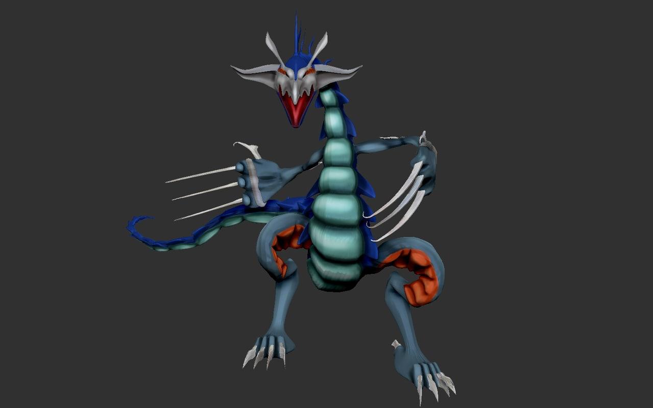 3D model dragon bay blade
