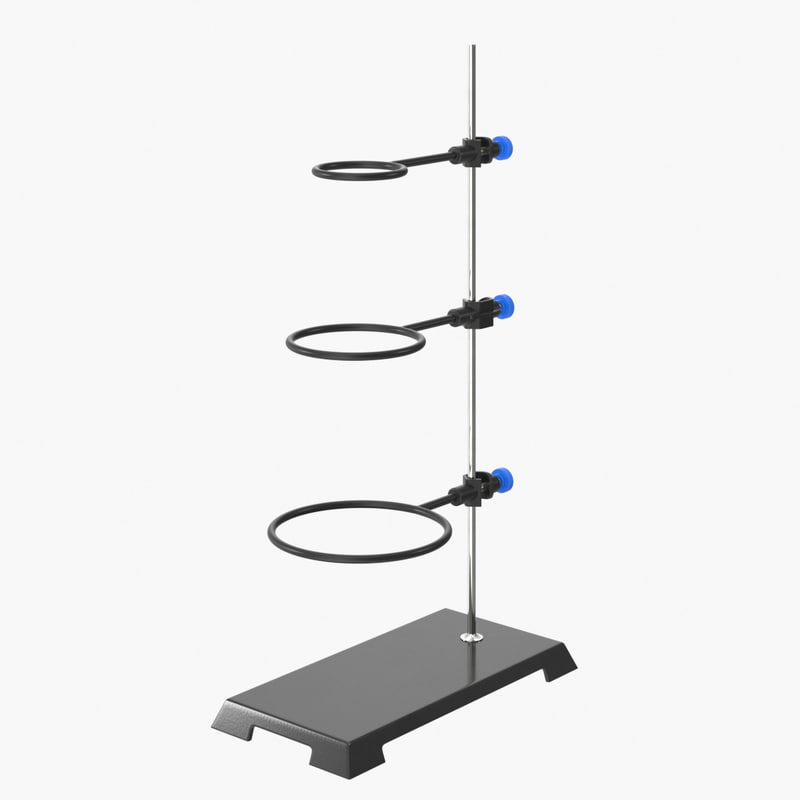 realistic laboratory stand support 3D model