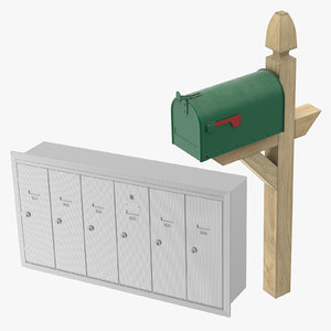 3D mailboxes mail box model