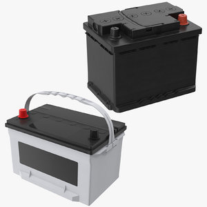 car batteries 3D model