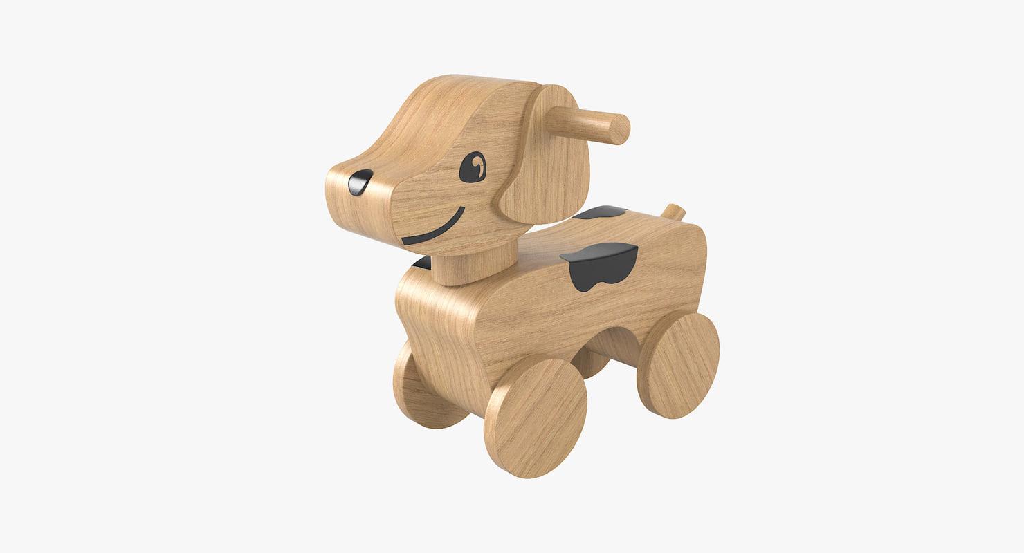 3D toy wheel dog model