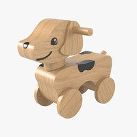 3D toy wheel dog model