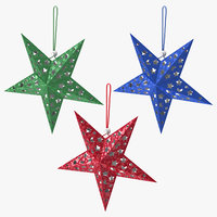 3D star ornaments