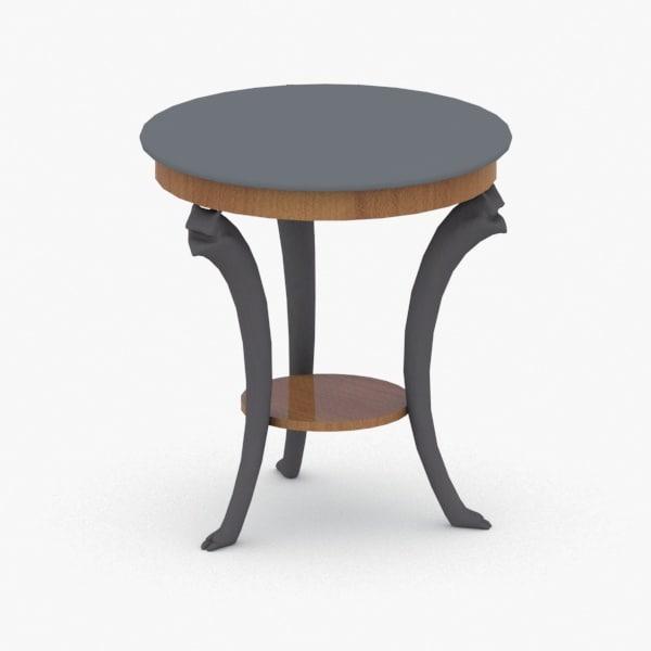 3D model interior - table