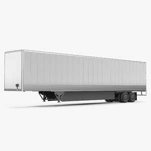 3D tesla semi big trailer model