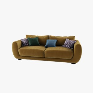 velour sofa 3D model