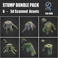 3D model stump pack