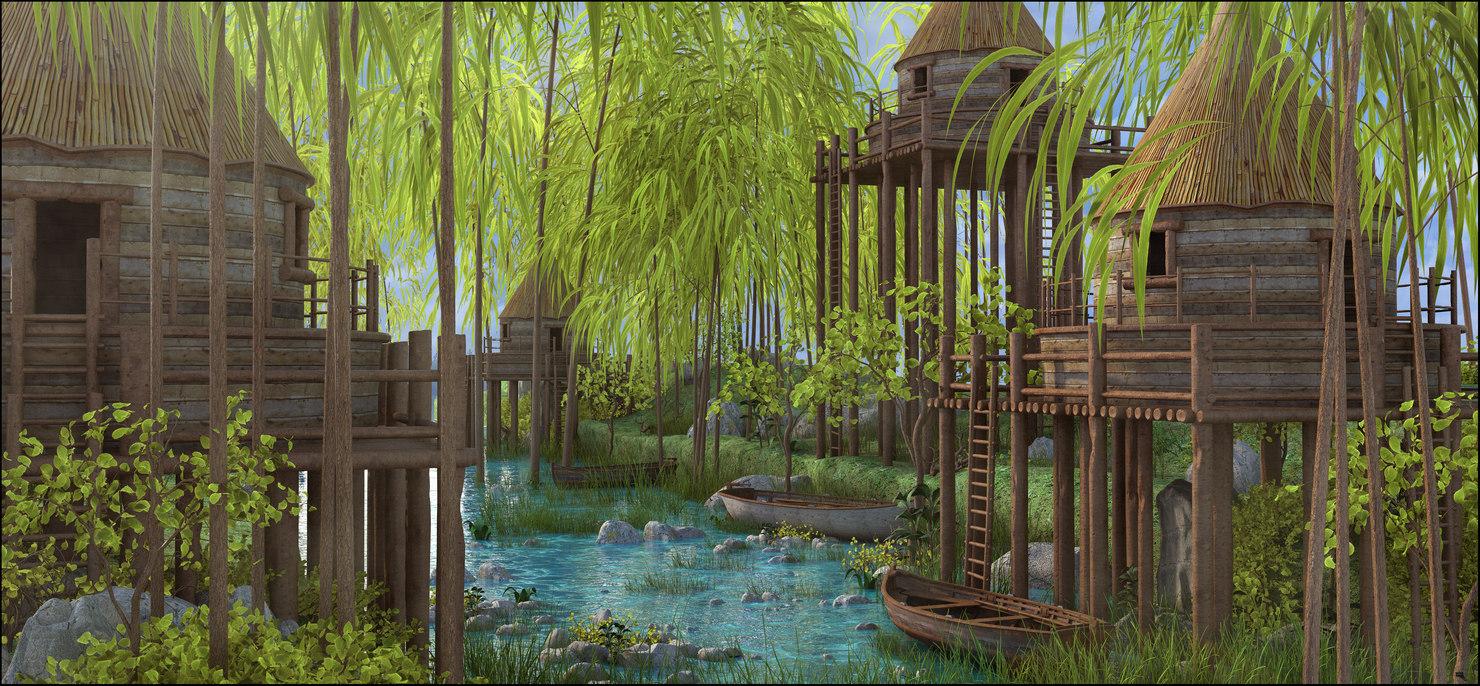jungle river model