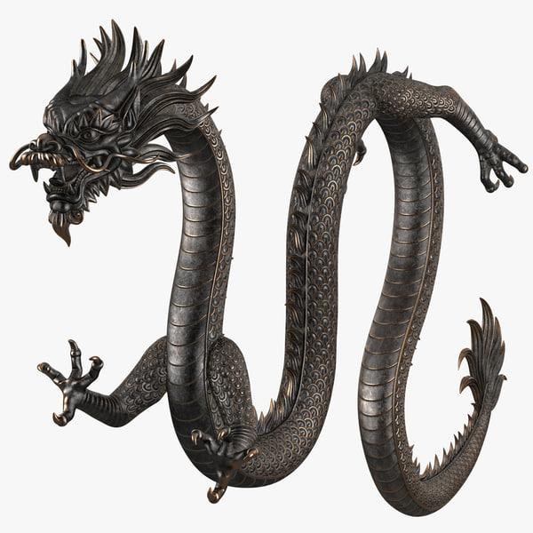 chinese dragon rig v2 3D model