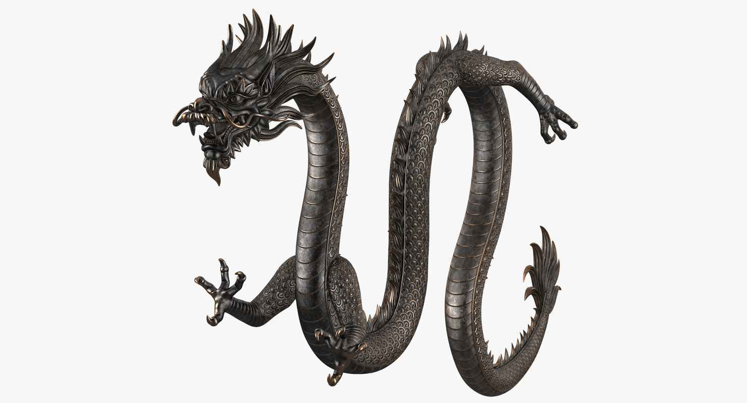 chinese dragon rig v2 3D model