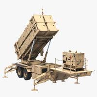 MIM-104 Patriot Sand Rigged 3D Model