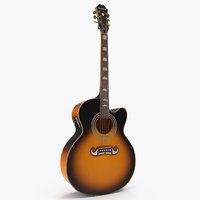 3D electro acoustic guitar epiphone model