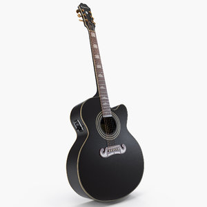 electro acoustic guitar black model