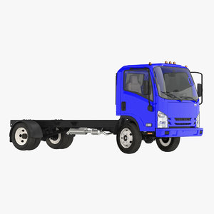 3D commercial truck generic rigged