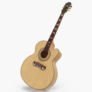 3D model classical acoustic guitar