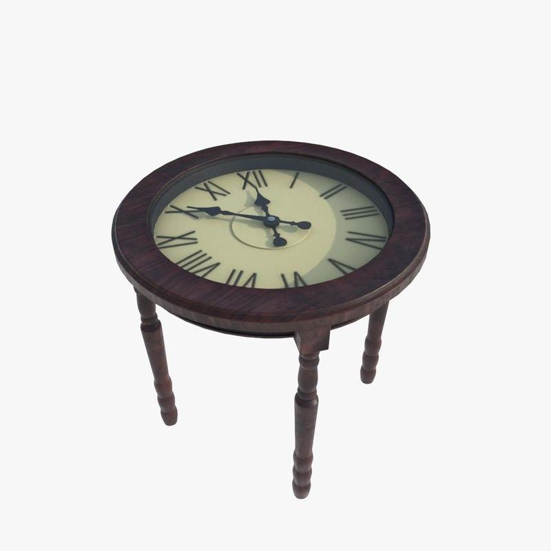 3D clock table
