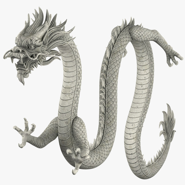 3D chinese dragon rig model
