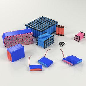 3D 18650 li ion 1