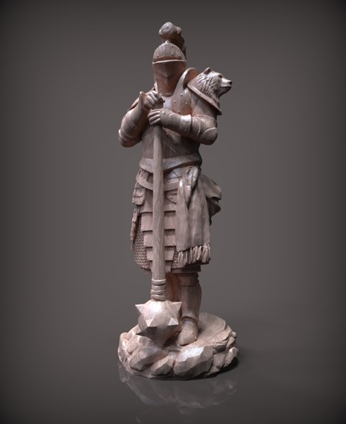 3D chess bishop white model