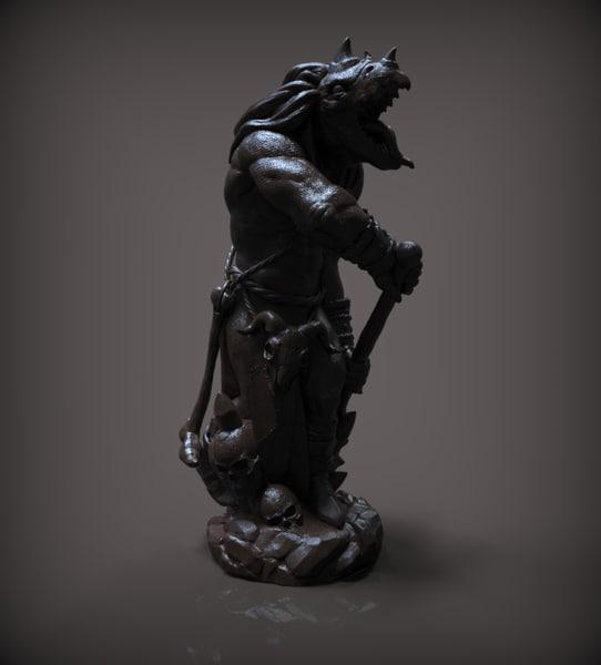 chess bishop black model