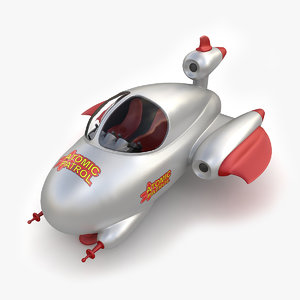 3D model toy space ship
