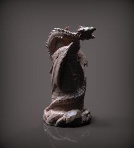chess rook white 3D model