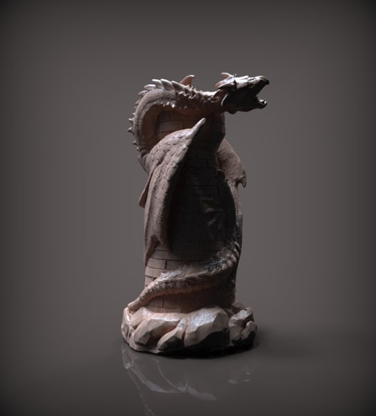 chess rook white 3D model