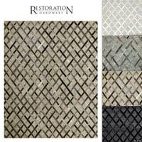 3D restoration rugs hide cuero model