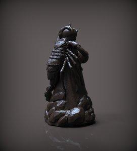 chess rook black model
