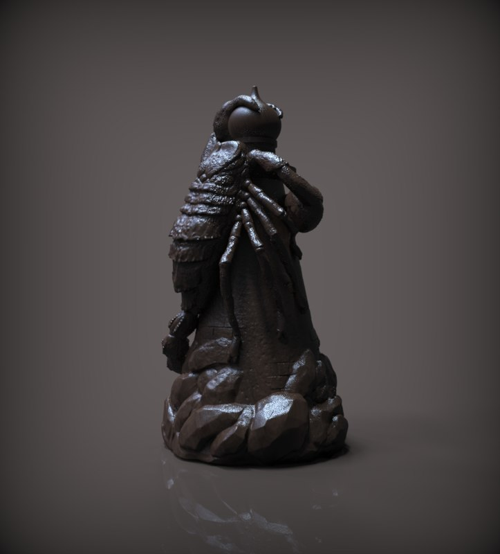 chess rook black model