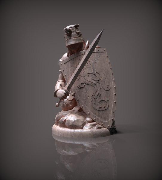 chess pawn white 3D model