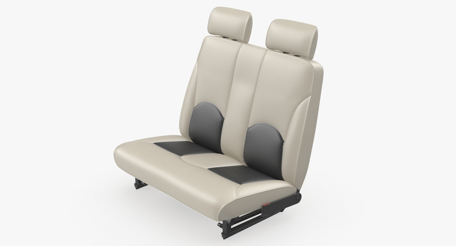 light airplane passenger seats 3D model