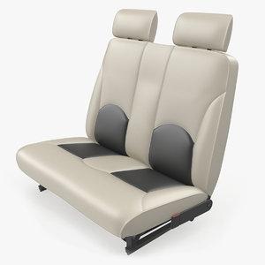 light airplane passenger seats 3D model