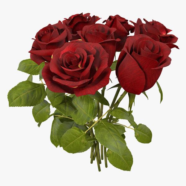 3D model bouquet roses