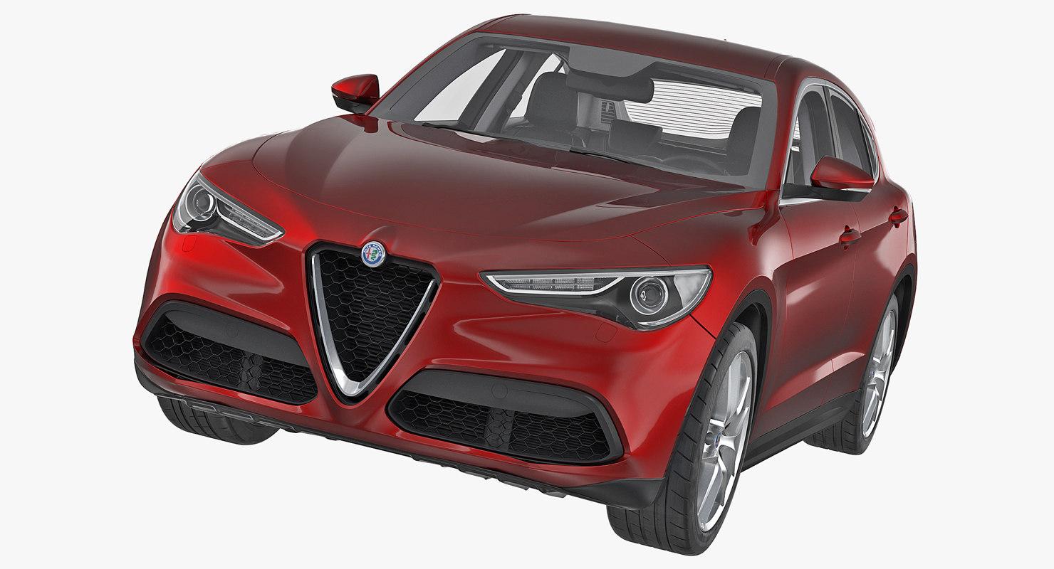 3d Model Alfa Romeo Stelvio 2017 Turbosquid 1244958