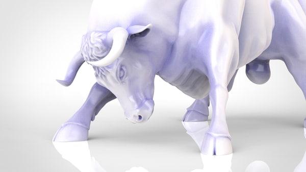3D bull model