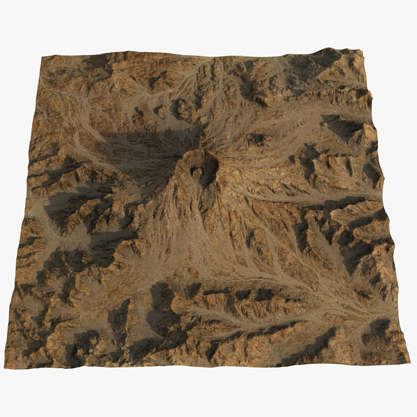 3D mount st helens
