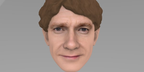 3D model head bilbo baggins hobbit