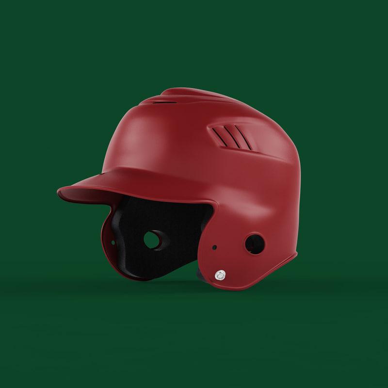 batting helmet 3D model